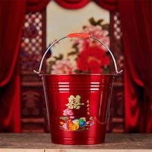 嫁妆不锈钢加厚水桶 米桶  红色喜桶结婚子孙桶结婚庆用品