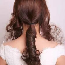 长头发新娘编发图片及教程