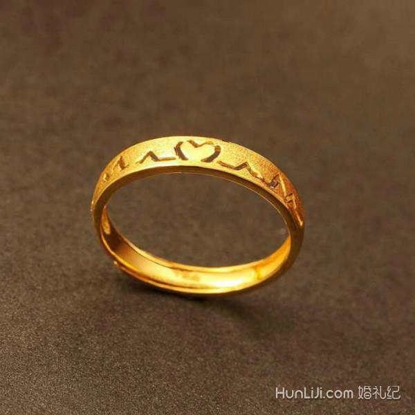 黄金戒指款式大全图片