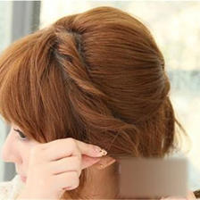 短发伴娘发型教程简单易学