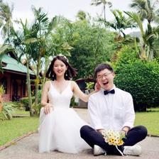 拍婚纱照头发留多长