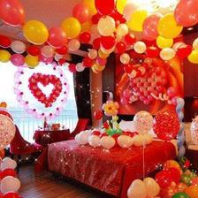 婚房布置气球图片卧室实用篇