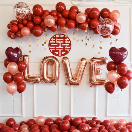 甜蜜爱恋婚房气球套装