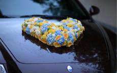 鲜花婚车图片 玫瑰心形婚车的制作方法