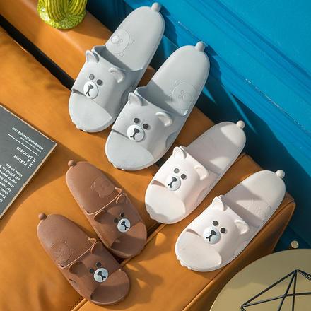 【买一赠一】布朗熊可妮兔情侣款浴室居家拖鞋