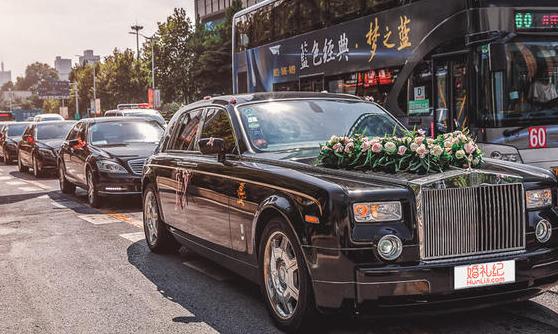 结婚婚车黑色车队