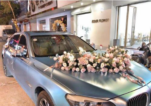 结婚婚车蓝色