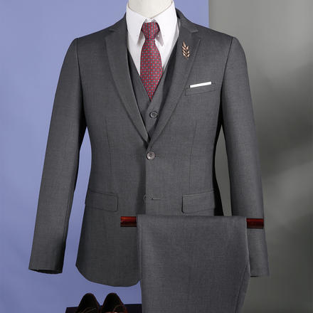 男士韩版修身结婚西服套装