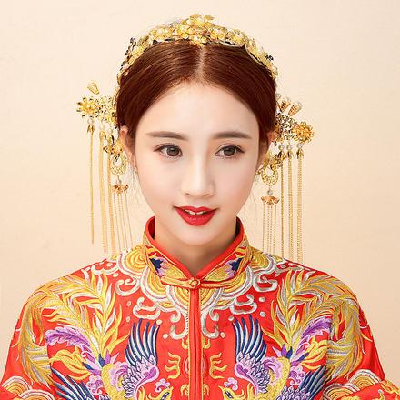 【2月2日陆续发货】中式流苏步摇新娘发饰套装