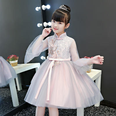 2019新款长袖仙气梦幻公主裙花童小礼服