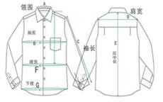 男式衬衫尺码对照表