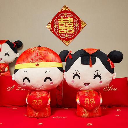 【一对】中式传统压床娃娃