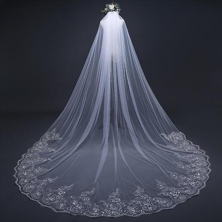 雀翎新娘头纱