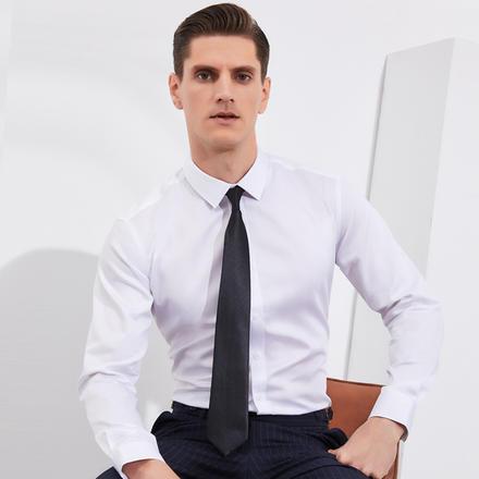 男士100S双股纯棉免烫长袖衬衣