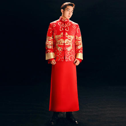 黄晓明同款 新郎中式礼服
