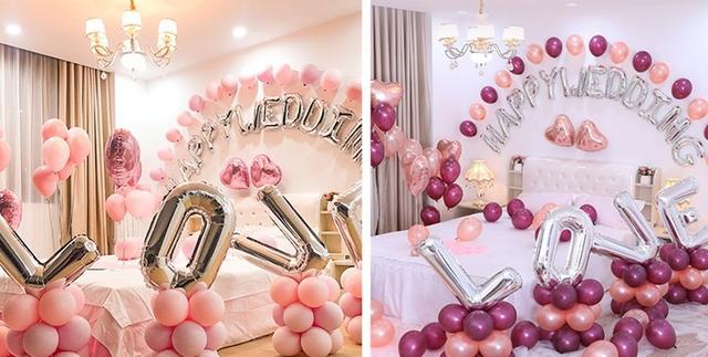 婚房气球布置效果图图片