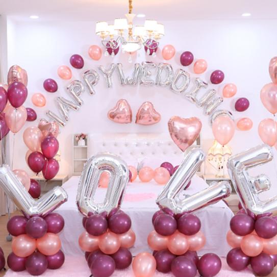 婚房气球搭配效果图
