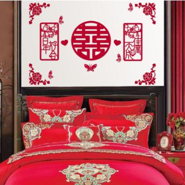 中式简洁婚房布置效果图