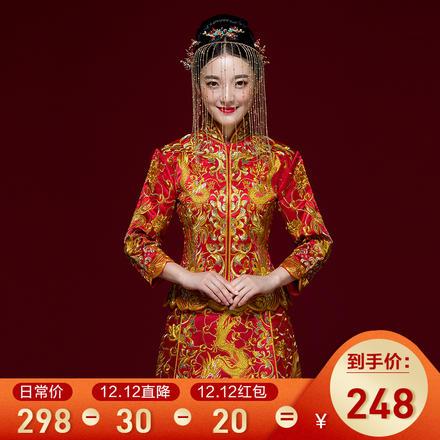 囍嫁系列•凤舞九天金绣龙凤褂