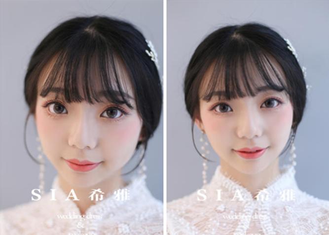 新娘妆容发型