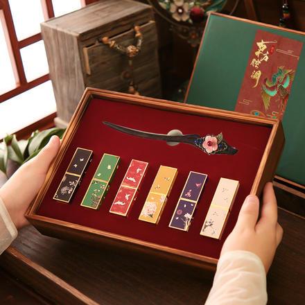 中式复古十里红妆木质礼盒