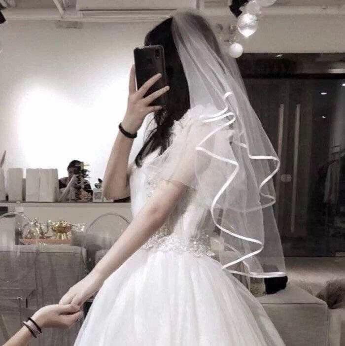 穿婚纱的情侣头像一对