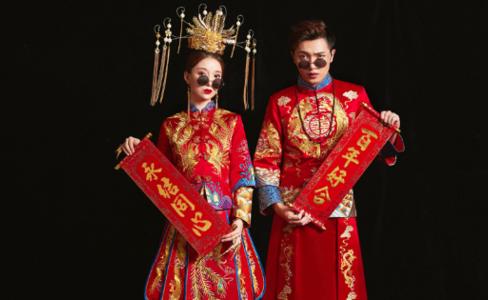 古风婚纱照 中式古风婚纱照图片