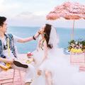 海滨浪漫约会,记录我的旅拍婚纱照