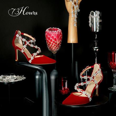 73Hours女鞋Freja弗蕾亚婚鞋春秋细跟水钻注册送35元的体验金高跟鞋