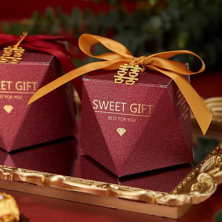 网红婚礼磨砂钻石喜糖盒