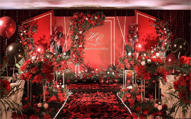 幸福里~经典红色系ins婚礼,超值办婚礼!