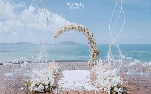 临海池畔婚礼 I 白色简约风