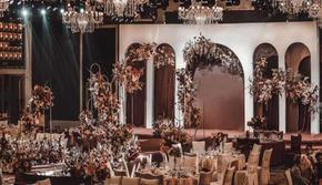 2020时尚流行风标勃艮第红白婚礼