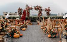 好百年婚礼策划-户外天台红色复古婚礼《十三》