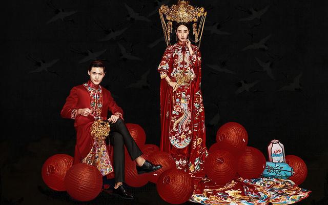 中式高定系列婚纱照 | 挪娅婚纱摄影出品