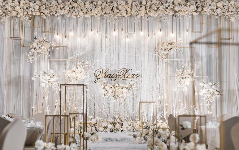 【Pure】室内白香槟色大气婚礼套系