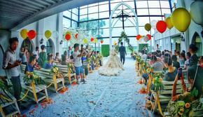 超值特惠套餐+教堂婚礼+真假花艺+舞台音响座椅
