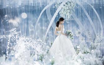 梦时光婚礼 【月光】舞台吊顶 主推唯美浅蓝婚礼
