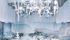 【Fantasia】气质白蓝主题室内婚礼/含人员