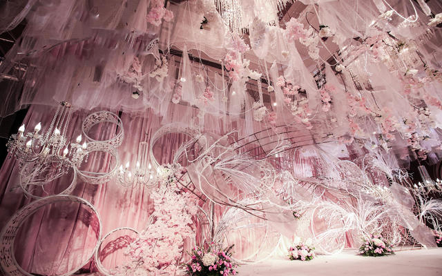 【梦幻季】合肥世纪金源大饭店粉色系梦幻主题婚礼