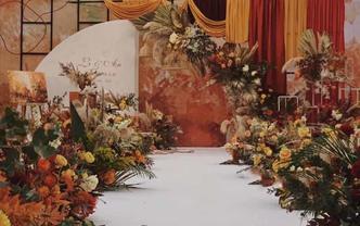 飞凌婚礼丨暖橙色小众婚礼 春季潮流精选