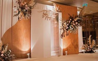 时尚大地色婚礼风格/布置+人员+灯光