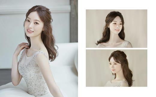 最新款新娘造型简约大气韩式风格