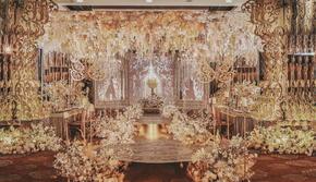 【蜜优蜜婚礼策划】美女与野兽|香槟金奢华主题婚礼