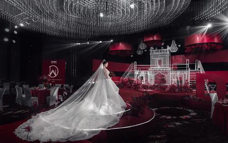 【美瑞】红黑碰撞轻奢水晶定制婚礼+超值推荐