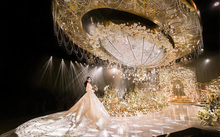 『蒂琳婚礼企划』香槟金唯美大气婚礼