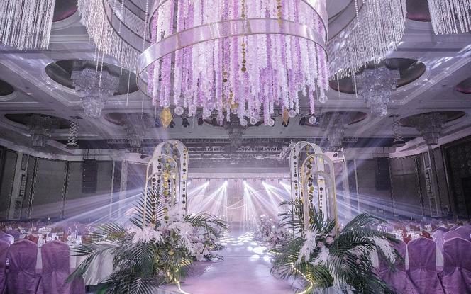 意匠婚礼策划-一场梦幻大气的淡紫色婚礼