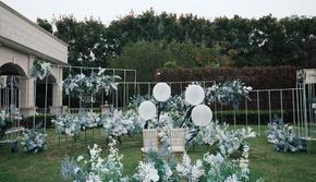 佛山婚礼-蓝色户外小清新婚礼