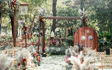 花园婚礼 | 红玫瑰森系