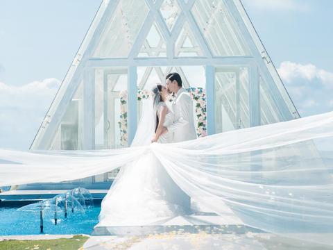 9999超值三亚水晶礼堂婚礼套系酒店+布置+场地
